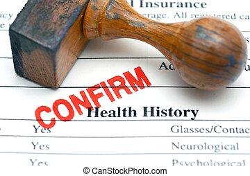 Health history form