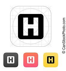 Health icon. Vector illustration.