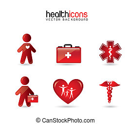 health icons  over white background. vector illustration