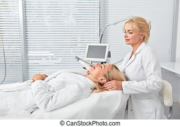 health improvement concept. woman taking part in a wellness ...