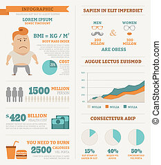 Health infographics , eps10 vector