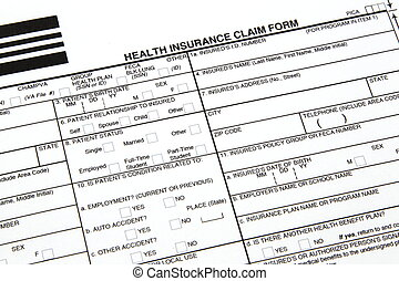 A health insurance claim form ready to be filled out for manual submission to an insurance carrier.