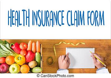 HEALTH INSURANCE CLAIM FORM , Application Concept health ...