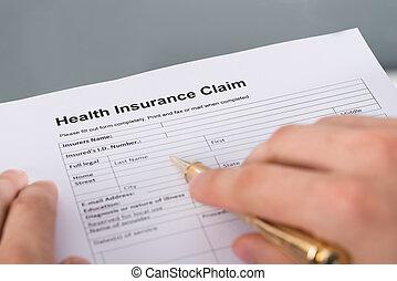 Health insurance claim form