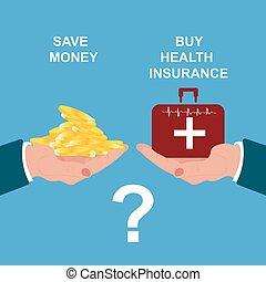 health insurance concept, vector