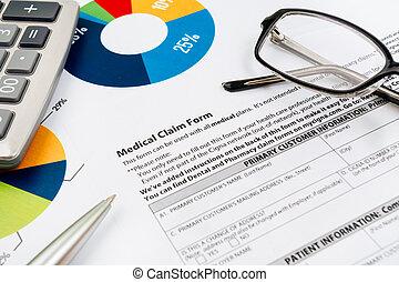 health-insurance, formulaire, réclamation