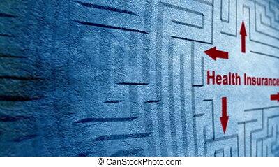 Health insurance maze concept
