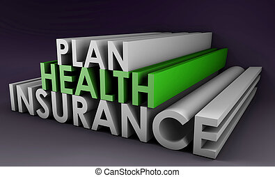 Health Insurance Plan Policy in 3D Art