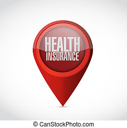 Health Insurance pointer sign concept