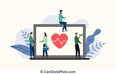 Health insurance, protection health, business concept vector illustration