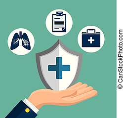 health insurance service concept vector illustration graphic design