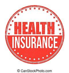 Health insurance stamp - Health insurance grunge rubber...