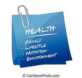 health key essentials memo post