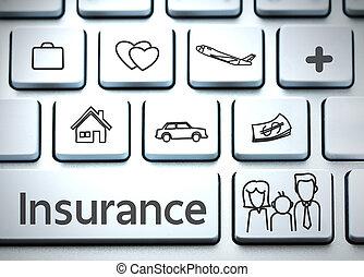health), leven, (insurance, verzekering, toetsenbord