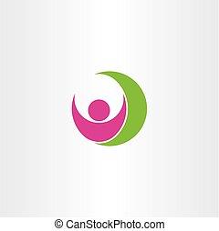 health logo healthy man icon vector symbol