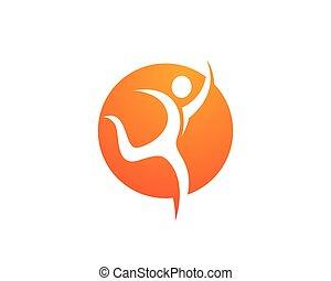 Health Logo Template - Fun people Healthy Life icon Logo...