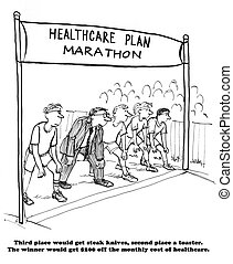 Health marathon - Worker can lower insurance premium by...