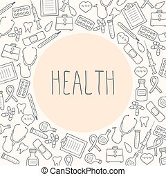 Health. Medical background. Vector Illustration