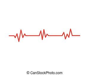 Health medical heartbeat pulse - Art design health medical ...