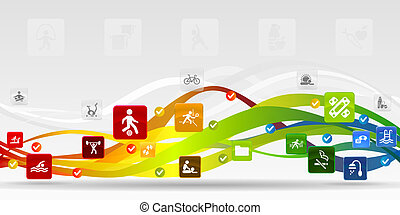 Health mobile applications vector abstract background