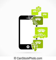 Health mobile phone applications vector illustration Health...