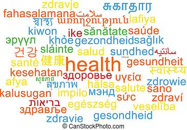Health multilanguage wordcloud background concept -...