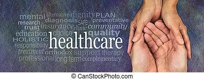 health munkás, törődik