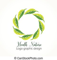 Health nature ecological leafs icon vector logo design