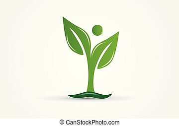 Health nature leafs ecology logo vector