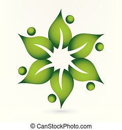 Health nature leafs logo
