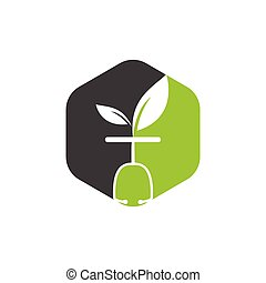 Health nature logo design template. Modern natural leaf with stethoscope doctor icon design.