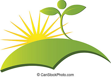 Health nature logo vector - Health nature logo icon vector