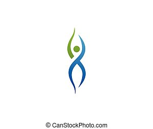 Health nature  people care logo and symbols template