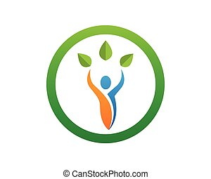 Health nature people symbols and Logo Template