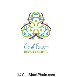 Health or beauty studio logo.