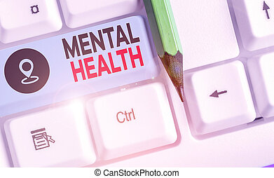 health., palavra, demonstrating., negócio, ou, escrita, psicológico, texto, mental, wellbeing, conceito, nível, estado