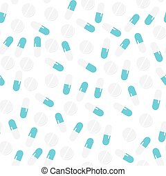 Health pattern with pills.