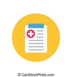 health plan icon on white