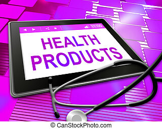 Health Products Means Medicine Store And Wellness