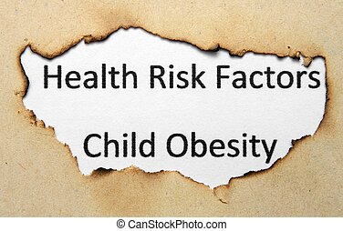 Health risk factors - child obesity