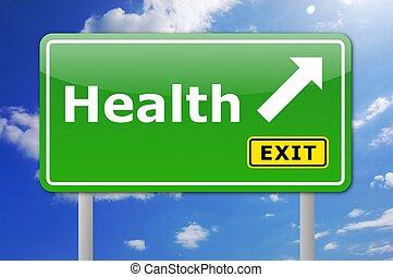 health road sign