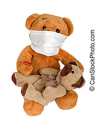 Health service - Picture of a teddy bear on isolated ...