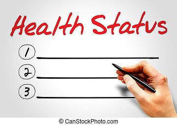 Health Status blank list concept
