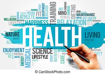 HEALTH word cloud concept