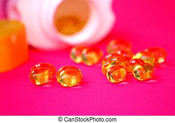health supplements - oil capsuels of evening primrose used ...