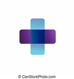 health symbol with a transparent color concept