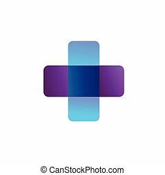 health symbol with a transparent color concept
