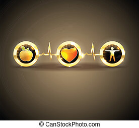 Health symbols, conceptual design - Heart health care...