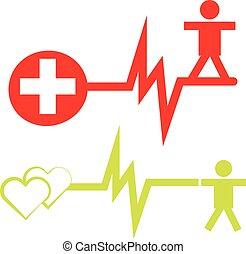 Health symbols isolated on white background