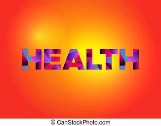 Health Theme Word Art Illustration